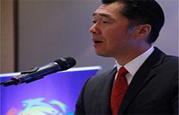 Korean Business Daily interviews Dr. Hyun Jin Moon at Korea-Paraguay Symposium